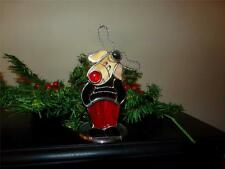 STAINED GLASS RUDOLPH TEA LIGHT HOLDER CHRISTMAS NICELY MADE