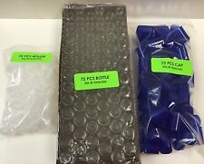 72 Bottles PLAIN 1/3 oz 10ml Clear Glass Roll on With Cap & Roller