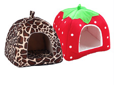 Pet Cat House Foldable Dog Indoor Bed Puppy Kennel Warm Small Tent Soft Portable