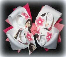 Little Girl Boutique Hair Bow 3 layers Loops Spikes Funky Hairbow Cartoon Dora