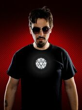IRON MAN 3 LICENSED TONY STARK LIGHT UP LED ARC REACTOR MARK VI PROP T-SHIRT