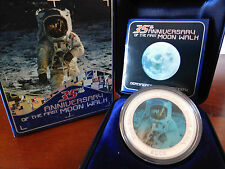2004 35th Anniversary of the Moon Walk Hologram Silver Proof Coin