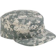 NEW Made in US ARMY Military ACU Camo Patrol Cap, Hat w. US Army Tab Patch USGI