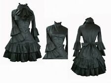 Vintage Gothic Lolita Palace Ruffle formally dress trumpet sleeves cosplay dress