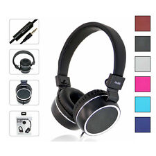 3.5mm Headphones Earphone Headset Stereo Wired with Mic for Smartphone MP3/4 PC
