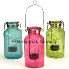 Colourful Glass Tealight Holder, Hanging Glass Candle Holder, Parties, Bohemian
