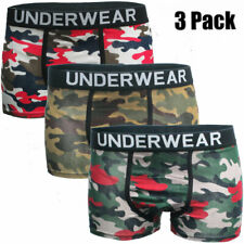 Fashion Mens 3 Pack Boxer Shorts Trunks Gift Underwear Cotton Boys Boxers New UK