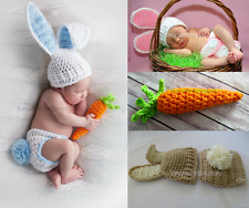 Crochet Bunny Hat, Diaper Cover with Tail, Carrot, EASTER Photo Props, Baby Gift