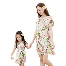 2017 new summer kids Girls chiffon Dress Family dresses Mother daughter dresses