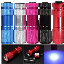 MINI Portable Flashlight UV Violet Light 9 LED Torch Blacklight
