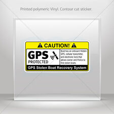 Sticker Decal Gps Protected Prevention Sign Boat Vehicle st5 X4XRW