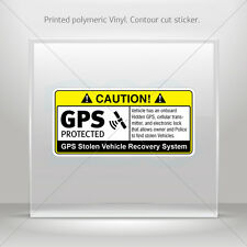 Decals Decal Gps Protected Prevention Sign Vehicle Vehicle st5 X4XR2