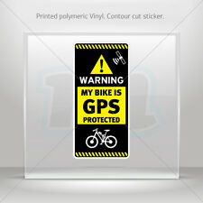 Decals Sticker Gps Protected Prevention Sign Bike Vehicle st5 X4RS7