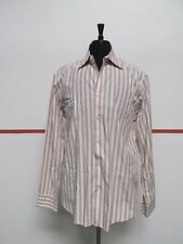 BOSS HUGO BOSS Red Cotton Long Sleeve Button Front Striped Shirt Sz 17/36 A106