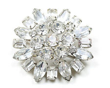 Vintage 1950s Weiss Clear Diamante Brooch
