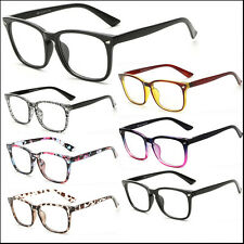 Various Mens Womens Clear Lens Square Frame Vintage Retro Fashion Geek Glasses