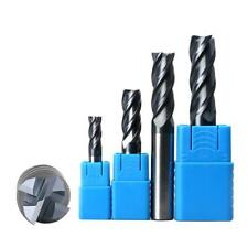 Carbide Tungsten Straight Shank 4 Flutes End Milling Cutter M4 M6 M8 M10 M12