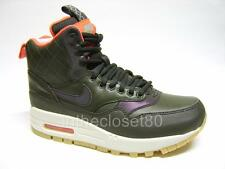 Womens Nike Air Max 1 Mid Sneakerboot Reflect Trainer Boot Sequoia 807307 300