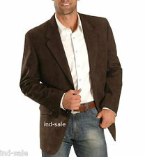 Custom Tailor Made All Size Genuine Suede Blazer Coat LEATHER JACKET EDH Party