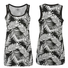 Bellfield B Taureg New Ladies Womens Palm Tree Monochrome Tee Vest Top Dress