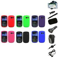 Color Silicone Rubber Gel Case Cover+8X Accessory for Pantech Link II 2 P5000