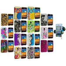 Design Hard Rubberized Case Cover+Windshield Mount for Samsung Sprint Galaxy S2
