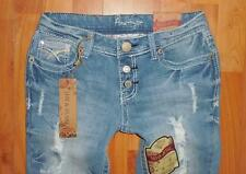 Nwt AMETHYST Juniors Fit & Flare Distressed Jeans Size 3