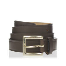 DSQUARED2 D2 new Man Brown Leather brass buckle belt Made in italy