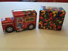 M&M's COLLECTIBLE RED CANDY TIN METAL DELIVERY TRUCK WITH BOX