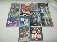 COLLECTOR PINS/BADGES PKS 4 PINS PER PK ROCK HEAVY METAL RAP 10 VARIETIES