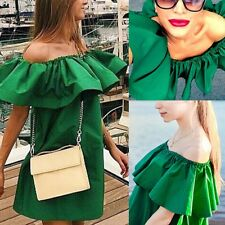 Summer Women Off-shoulder Casual Dress Party Club Cocktail Evenning Mini Dress