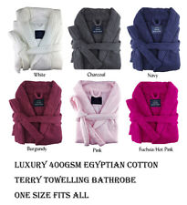 Personalised Embroidered Cotton Terry Towelling Bath Robe Bathrobe Colour Choice