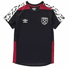 Umbro West Ham United FC Training Jersey Juniors Galaxy/Claret Football Soccer