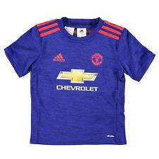 Adidas Manchester United FC Away Jersey 2016 2017 Juniors Royal Football Soccer