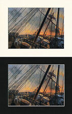 The Surprise On The Wine Dark Sea - Geoff Hunt Mounted Ship/Naval Print