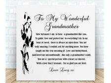 Nan Poem Personalised Ceramic Plaque - Wonderful Grandmother