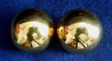 DESIGNER ITALY STERLING VERMEIL Ladys Clip Dome EARRINGS