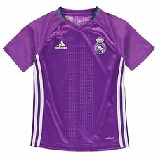 Adidas Real Madrid Training Jersey Juniors Purple Football Soccer Top Shirt