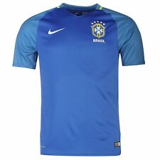 Nike Brazil Away Jersey 2016 Jersey Mens Royal Football Soccer Top Shirt