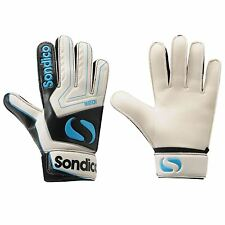 Sondico Match Goalkeeper Gloves Junior White/Blk/Blue Football Soccer