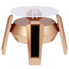 Solar Powered 360 Rotating Jewelry Phone Watch Display Stand Holder Turn Table