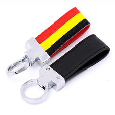Stainless &Cloth Luxury Leather Chrome Belt Chrome Key Chains Key Rings Charms