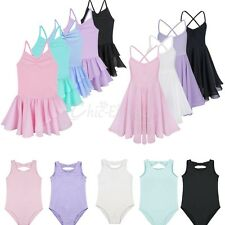 Girls Gymnastics Leotard Dance Dress Ballet Dress Tutu Skirt Dancewear Costume