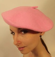 New Beret Pink Ladies Best Quality French Fashion Genuine 100% Wool S M L