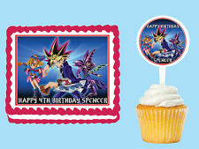 Yu-Gi-Oh!  Edible Birthday  Party Cake Cupcake Toppers Plastic Pick Sticker