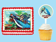 Zelda Legend Edible Birthday Party Cake Cupcake Toppers Plastic Pick Sticker
