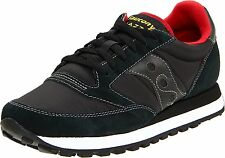 Saucony JAZZ ORIGINAL Mens Black/Red 2044-251 Lace up Casual Sneakers