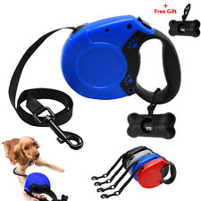 Didog Paw Printed Retractable Dog Leash Grey Blue Red Dog Cat Walking Leads