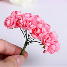 144PCS Fashion Wedding Party Home Decor Craft Artificial Paper Rose Bud Flower