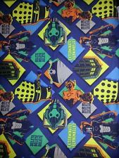 Doctor Who Tardis, Daleks, Cybermen Fabric - Sold by the Yard